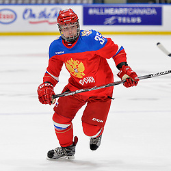 WHITBY, - Dec 14, 2015 -  Game #4 - Russia vs. Canada East at the 2015 World Junior A Challenge at the Iroquois Park Recreation Complex, ON. Viacheslav Shevchenko #35 of Team Russia during the first period.<br /> (Photo: Shawn Muir / OJHL Images)