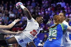 France player Grace Zaadi during the Women's european handball chanmpionship preliminary round, Slovenia vs France. Nancy, Fance -02/12/2018//POLEMILE_01POL20181202NAN015/Credit:POL EMILE / SIPA/SIPA/1812021731