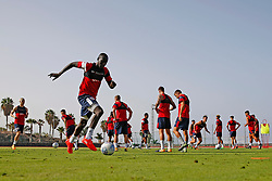 Famara Diedhiou of Bristol City trains during the morning session - Mandatory by-line: Matt McNulty/JMP - 18/07/2017 - FOOTBALL - Tenerife Top Training Centre - Costa Adeje, Tenerife - Pre-Season Training