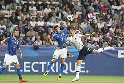 June 1, 2018 - Paris, Ile-de-France, France - Mattia Caldara (Italy) and Lucas Hernandez (France) competes for the ball during the friendly football match between France and Italy at Allianz Riviera stadium on June 01, 2018 in Nice, France..France won 3-1 over Italy. (Credit Image: © Massimiliano Ferraro/NurPhoto via ZUMA Press)