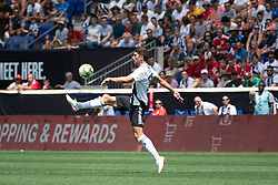 July 28, 2018 - Harrison, New Jersey, United States - Juventus defender MATTIA CALDARA (13) during the International Champions Cup at Red Bull Arena in Harrison, NJ.  Juventes vs Benfica (Credit Image: © Mark Smith via ZUMA Wire)
