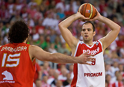Szymon Szewczyk of Poland during the EuroBasket 2009 Group F match between Poland and Spain, on September 16, 2009 in Arena Lodz, Hala Sportowa, Lodz, Poland.  (Photo by Vid Ponikvar / Sportida)