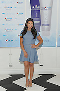 Award-winning actress Gina Rodriguez shows off her polished smile at the Crest 3D White Brilliance 2 Step #GetPolished launch event at DreamDry in New York, Thursday, Aug. 13, 2015.    (Photo by Diane Bondareff/Invision for Crest 3D White/AP Images)