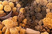 Sponges for sale, Rhodes town, Rhodes, Greece