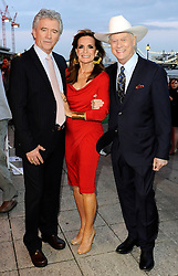 Patrick Duffy, Linda Grey and Larry Hagman  arriving at the launch of the new series of Dallas in London, Tuesday, August 21st 2012. .Photo by:  i-Images