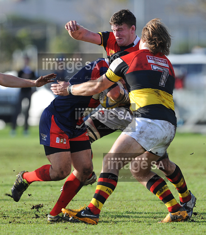 CAPE TOWN, SOUTH AFRICA - Saturday 20 July 2013, during the Western Province (WP) Club rugby match between Hamiltons and Durbanville/Bellville (Durbell) at Hamiltons, Green Point.<br /> Photo by Roger Sedres/ImageSA