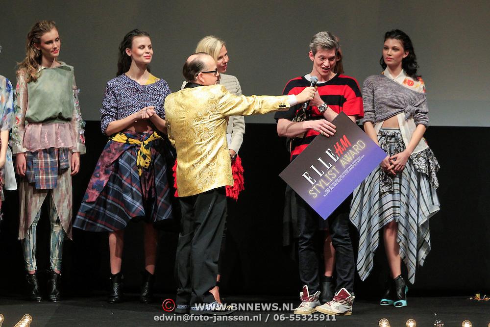 NLD/Amstrdam/20130122 - Elle Style Award  2013, Pascal-Joel Weber wint de Stylist Award
