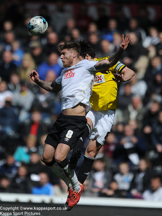 Derby Jeff Hendrick Derby County v Brentford, Sy Bet Championship, IPro Stadium, Saturday 11th April 2015. Score 1-1,  (Bent 92) (Pritchard 28)<br /> Att 30,050