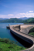 Victoria Dam, the largest single source of Hydro Electric Power. Part of the massive Mahaweli Irrigation scheme.