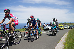 Elise Maes (LUX) of Team WNT climbs the hardest climb of Stage 5 of the Emakumeen Bira - a 95.2 km road race, starting and finishing in Errenteria on May 21, 2017, in Basque Country, Spain. (Photo by Balint Hamvas/Velofocus)