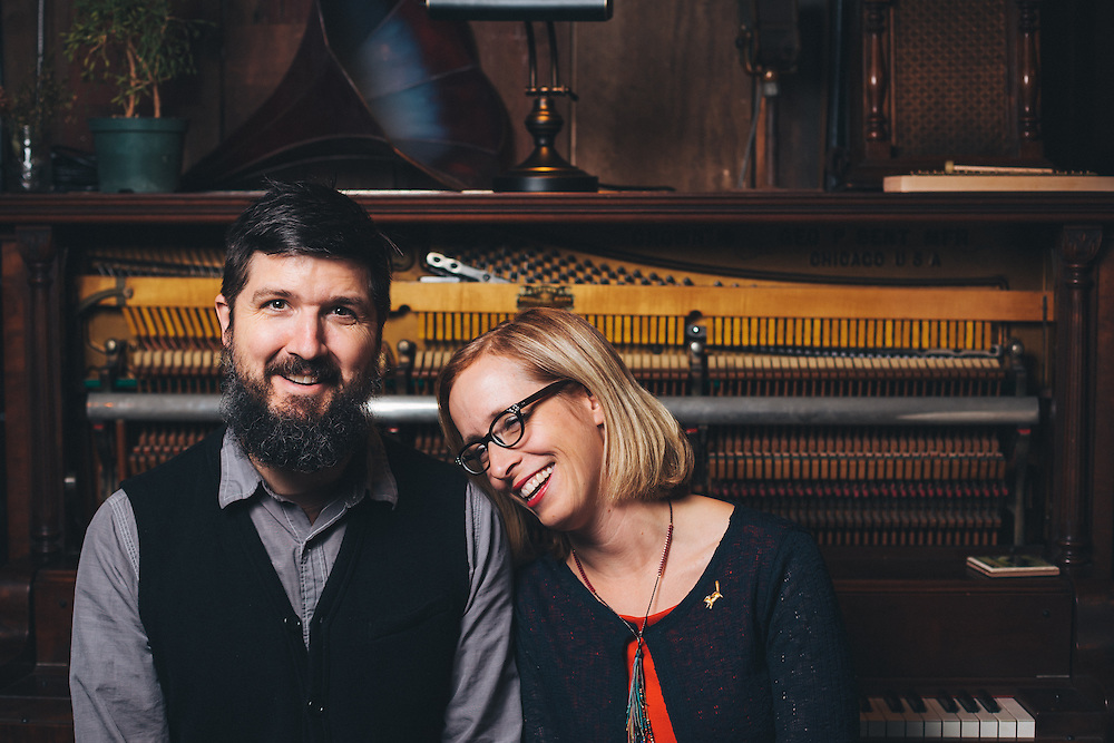 Tucker Martine and Laura Veirs, photographed at Flora Recording & Playback for Tedx MtHood.