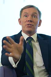 © licensed to London News Pictures. London, UK 12/08/2013. Shadow immigration minister Chris Bryant answering questions of media in central London on Monday, August 12, 2013. Photo credit: Tolga Akmen/LNP