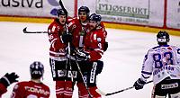 Ishockey , Get - ligaen ,<br /> Kvartfinale 3/7<br /> 08.03.2012 <br /> Kristins Hall<br /> Lillehammer I.K  v Sparta Sarpsborg  4-3<br /> Foto:Dagfinn Limoseth  -  Digitalsport<br /> Aleksander Rindal Nygaard , Andreas Martinsen Evan Cheverie ,  Lillehammer