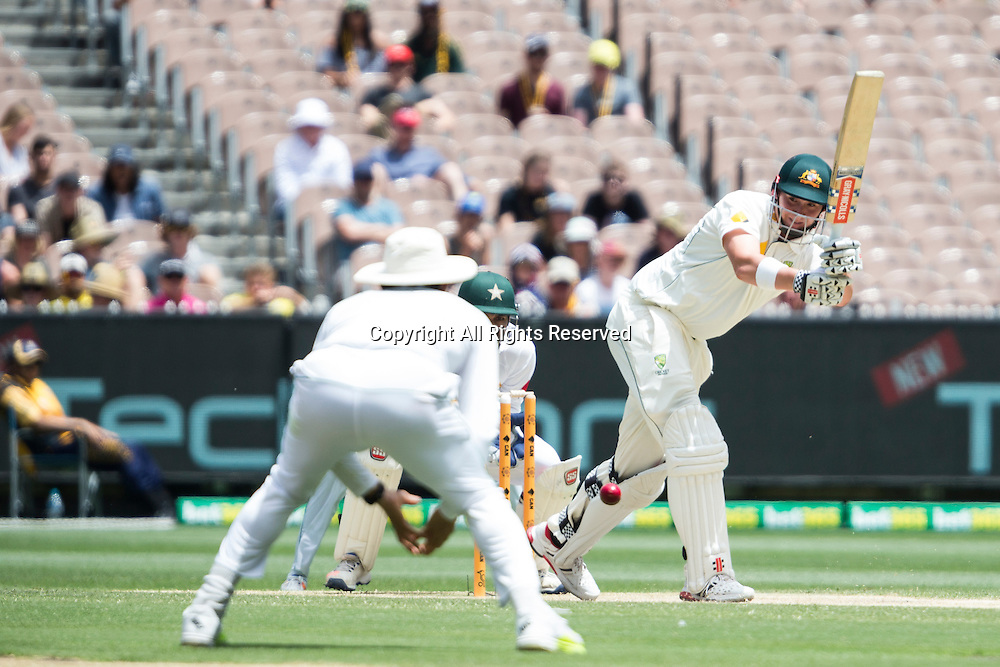 28.12.2016. MCG, Melbourne. Commonwealth Bank Test cricket Series, Australia versus Pakistan Boxing Day test. Matt Renshaw batting