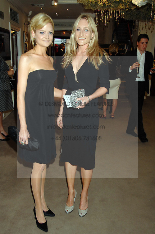 Left to right, sisters LADY ELOISE ANSON and LADY ROSE ANSON at the Sotheby's Summer Party 2007 at their showrooms in New Bond Street, London on 4th June 2007.<br />