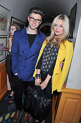 DAN KENNEDY and LAURA WHITMORE at the Johnnie Walker Blue Label and David Gandy partnership launch party held at Annabel's, 44 Berkeley Square, London on 5th February 2013.