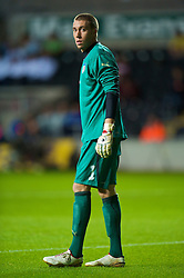SWANSEA, ENGLAND - Friday, September 4, 2009: Italy's goalkeeper Vincenzo Fiorllo during the UEFA Under 21 Championship Qualifying Group 3 match against Wales at the Liberty Stadium. (Photo by David Rawcliffe/Propaganda)