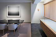 Tokyo, Japan, December 10 2017 - VIP room for guests and buyers designed by Hiroshi SUGIMOTO at Gallery KOYANAGI in the Ginza area.