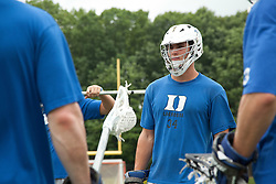 29 May 2010: Duke Blue Devils midfielder Greg DeLuca (34) during practice at Essex Community College in Baltimore, MD.