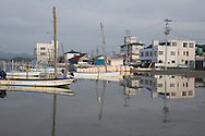 Fishing boats, in the Matsukawaura district of Soma, Japan, on Monday 23 July 2012.