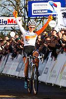 Joie Pauline FERRAND PREVOT  - 11.01.2015 - Cyclo cross - Championnats de France Femmes - Pontchateau<br /> Photo : Vincent Michel / Icon Sport