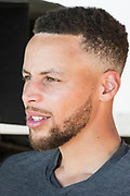 ATTENTION EDITORS -- EMBARGOED TO 0900 GMT JUNE 28, 2017<br /> Golden State Warriors NBA basketball player Stephen Curry sits for a portrait during filming of an Infiniti car advertisement in Blackhawk, California, U.S. June 26, 2017. Picture taken June 26, 2017. REUTERS/Kate Munsch