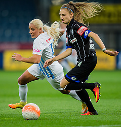05.10.2016, Merkur Arena, Graz, AUT, UEFA CL, Damen, SK Sturm Graz Damen vs FC Zuerich Frauen, Sechzehntelfinale, Hinspiel, im Bild Adriana Kristina Leon (Zuerich), Katharina Naschenweng (Graz) // during the UEFA Womens Championsleague, round of 32, 1st Leg match between SK Sturm Graz Women and FC Zuerich Women at the Merkur Arena, Graz, Austria on 2016/10/05, EXPA Pictures © 2016, PhotoCredit: EXPA/ Dominik Angerer