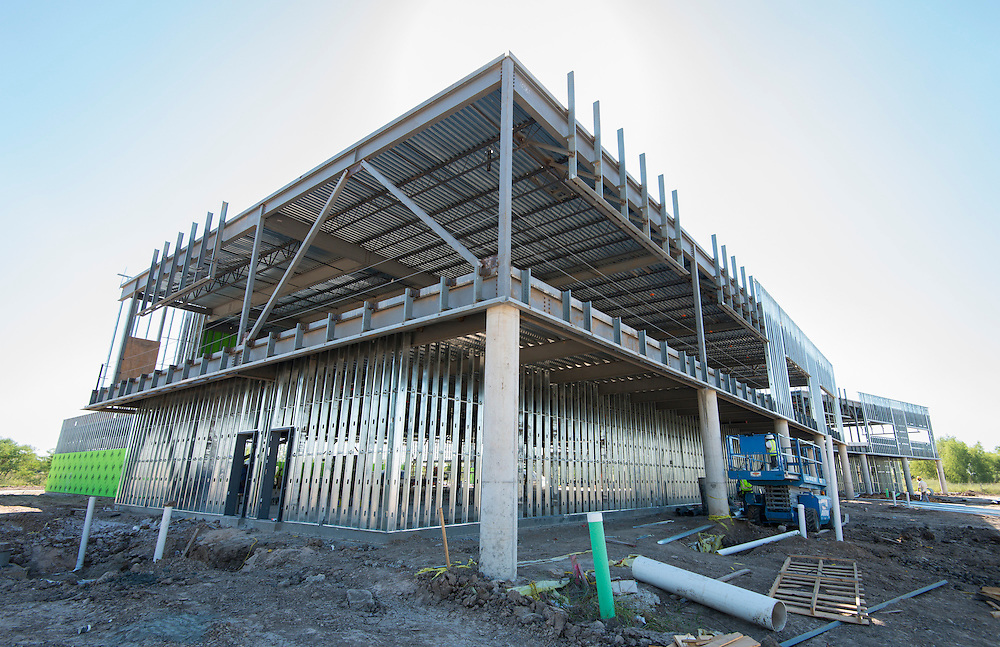 Construction at South Early College High School, October 16, 2015.