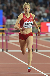 August 7, 2017 - London, England, United Kingdom - Sara Slott PETERSEN, Denmark,  during 400 meter  hurdle heats in London on August 7, 2017 at the 2017 IAAF World Championships athletics. (Credit Image: © Ulrik Pedersen/NurPhoto via ZUMA Press)