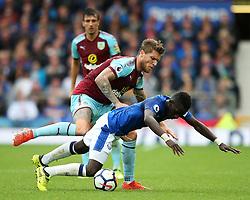 Jeff Hendrick of Burnley fouls Idrissa Gueye of Everton - Mandatory by-line: Matt McNulty/JMP - 01/10/2017 - FOOTBALL - Goodison Park - Liverpool, England - Everton v Burnley - Premier League