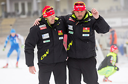 Uros Velepec and Tomas Kos during practice session of Slovenian biathlon team before new winter season 2012/13 on November 19, 2012 in Rudno polje, Pokljuka, Slovenia. (Photo By Vid Ponikvar / Sportida)