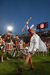 September 18, 2010; Stanford, CA, USA; The Stanford Cardinal band performs before the game against the Wake Forest Demon Deacons at Stanford Stadium. Stanford defeated Wake Forest 68-24.