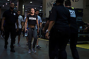 LAS VEGAS, NV - JULY 8:  Claudia Gadelha enters the building before The Ultimate Fighter Finale at MGM Grand Garden Arena on July 8, 2016 in Las Vegas, Nevada. (Photo by Cooper Neill/Zuffa LLC/Zuffa LLC via Getty Images) *** Local Caption *** Claudia Gadelha