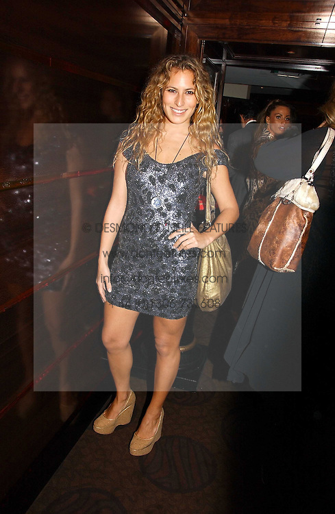 CHARLOTTE DELLAL at a party to celebrate the 50th Anniversary of Gina Shoes held at The Bar, The Dorchester, Park Lane, London on 19th September 2006.<br />
