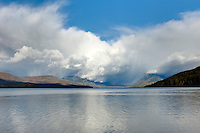 Clearing autumn storm over Lake McDonald, Glacier National Park Montana