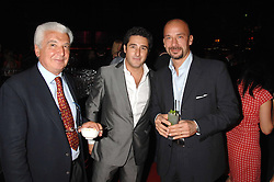 Left to right,    , LUCA DEL BONO and GIANLUCA VIALLI  at a party to celebrate the launch of the new Fiat Bravo held at The Roundhouse Theatre, Chalk Farm Road, London on 13th June 2007.<br />