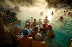 """Budapest, Hungary has long been renowned for its health spas and thermal springs but recently it has been discovered that many of these springs are connected underground by a huge """"thermal lake."""" Divers are currently exploring the lake and the city is planning to ask for World Heritage status and may open the lake to the public.  The ancient Roman settlement Aquincum, located on the outskirts of Budapest is the site of the very first hot mineral water bath complex."""