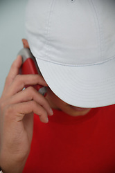 Teenage boy talking on his mobile phone,