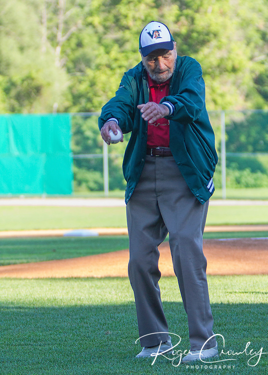 Vermont Mountaineers defeat the Sanford Mainers 6-2 at Recreation Field in Montpelier. Alan Weiss was honored on the field and he threw out the first pitch with family present.