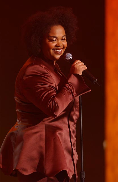Jill Scott performing during the BET Walk of Fame show Honoring Stevie Wonder.