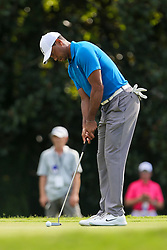 September 22, 2018 - Atlanta, Georgia, United States - Tiger Woods putts the 7th green during the third round of the 2018 TOUR Championship. (Credit Image: © Debby Wong/ZUMA Wire)