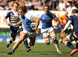 Nick Cummins on the run during the Super Rugby (Super 15) fixture between DHL Stormers and the The Force played at DHL Newlands in Cape Town, South Africa on 26 March 2011. Photo by Jacques Rossouw/SPORTZPICS
