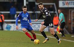 Andrew Hughes of Peterborough United closes down Jay O'Shea of Bury - Mandatory by-line: Joe Dent/JMP - 23/12/2017 - FOOTBALL - ABAX Stadium - Peterborough, England - Peterborough United v Bury - Sky Bet League One