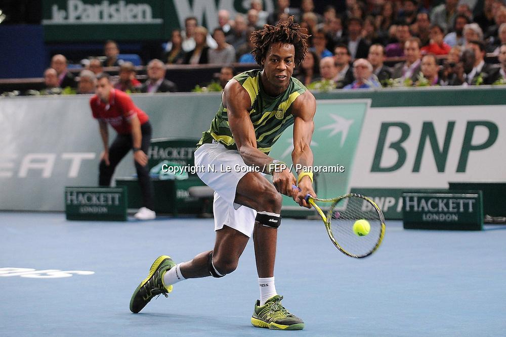 Tennis : BNP Paribas Masters - Open de Bercy - 09.11.2011, BNP Paris Masters Tennis, Paris France. 9 November 2011. Photo: Panoramic <br /> <br /> Gael Monfils (Fra)