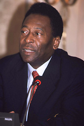 May 20, 2001; Madrid, SPAIN; North American Sales Only! Brazilian Soccer Legend 'PELE' attends a Benefit Act for Children called 'Master Card found to Help Children' in Madrid..  (Credit Image: Remi Agency/ZUMAPRESS.com)
