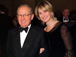 MR & MRS GILBERT DE BOTTON leading patrons of the arts, at a dinner in London on 1st November 1999.MYJ 63