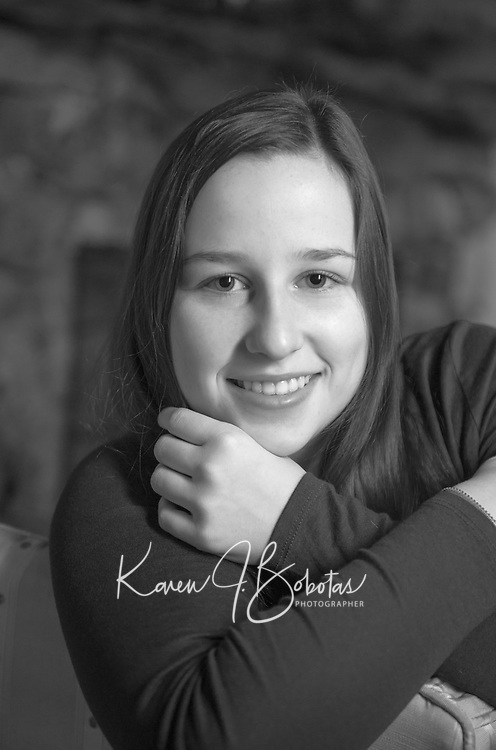 Emma S. senior portrait session at Church Landing, Meredith.  ©2017 Karen Bobotas Photographer