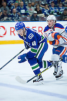 PENTICTON, CANADA - SEPTEMBER 16: Olli Juolevi #48 of Vancouver Canucks skates against the Vancouver Canucks on September 16, 2016 at the South Okanagan Event Centre in Penticton, British Columbia, Canada.  (Photo by Marissa Baecker/Shoot the Breeze)  *** Local Caption *** Olli Juolevi;