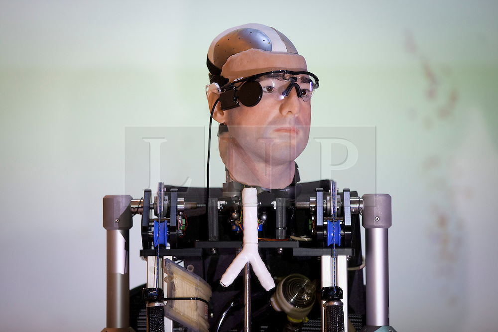 © Licensed to London News Pictures. 05/02/2013. London, UK. An artificial man made entirely of replacement body parts is seen at the Science Museum in London today (05/02/13). The artificial man, made up of components costing around US$1,000,000 and standing at 2 metres in height, was constructed for Channel 4 documentary 'How to Build a Bionic Man. Photo credit: Matt Cetti-Roberts/LNP