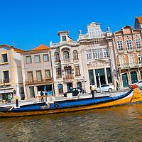 Alberto Carrera, Aveiro moliceiros boats, Central Channel, Channels of Lagoon, Ria de Aveiro, Aveiro, Portugal, Europe
